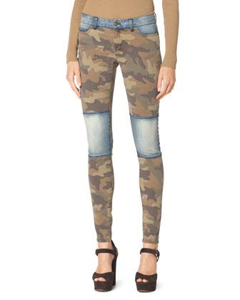 Denim/Camo Skinny Jeans
