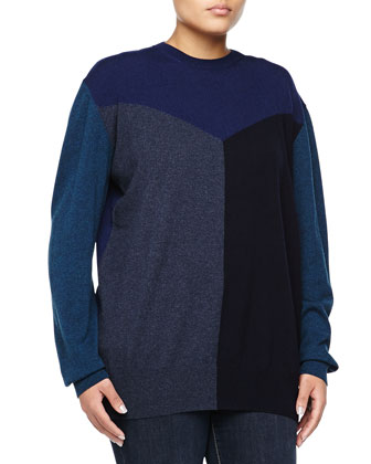 Cashmere Colorblock Sweater, Multi