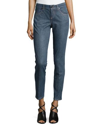 Ankle-Grazer Skinny Denim Jeans