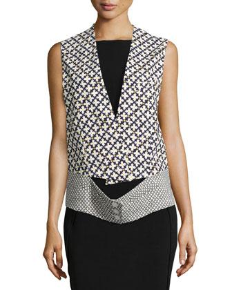 Mixed-Print Vest