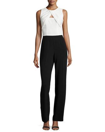 Nera Sleeveless Cutout Combo Jumpsuit