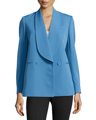 Easy-Fit Wool Jacket, Blue