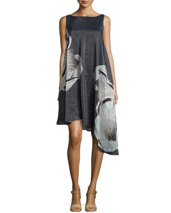 Midori Large-Floral-Print Dress
