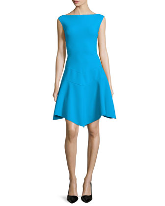 Imogen Fit-and-Flare Dress, Turchino
