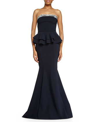 Mebony Mermaid Peplum Gown