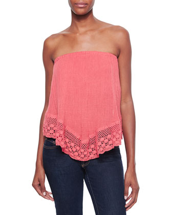 Balinese Strapless Voile/Crochet Top