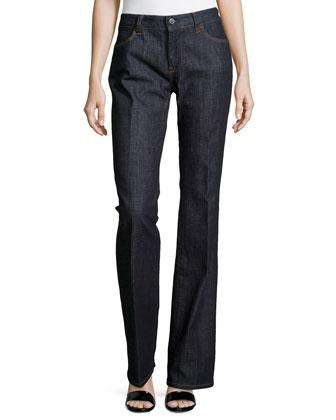 Boot-Cut Stretch Denim Jeans