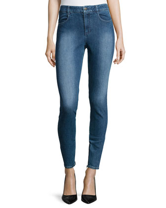 High-Waist Skinny-Leg Denim Jeans