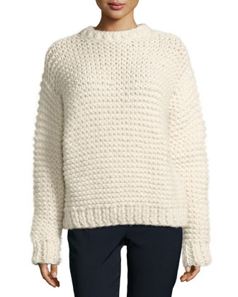 Chunky-Knit Alpaca-Blend Sweater
