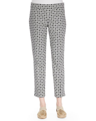 Callie Printed Jacquard Pants