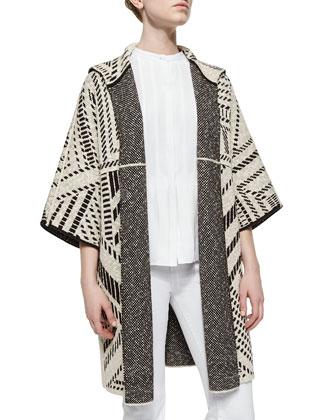 Jacquard Oversized Coat
