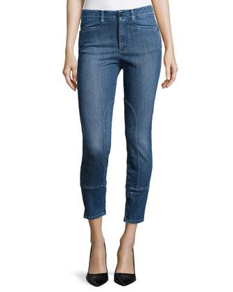 Straight-Leg Woven Denim Jeans