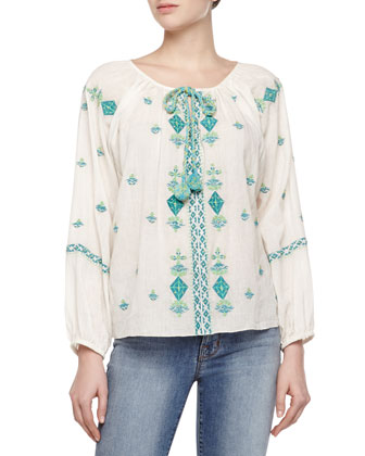Zuma Embroidered Voile Top