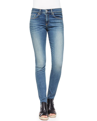High-Rise Faded Skinny Jeans, Sloane