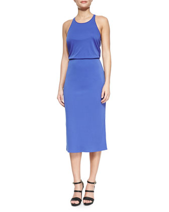Sleeveless Jersey Midi Dress