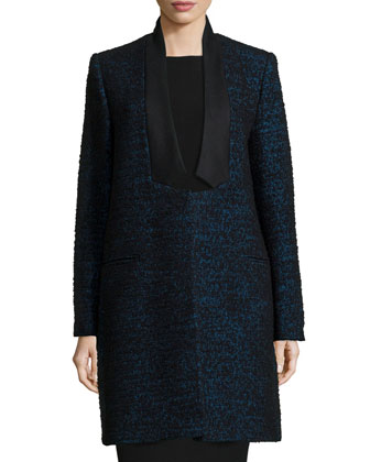 Wool-Blend Knee-Length Coat