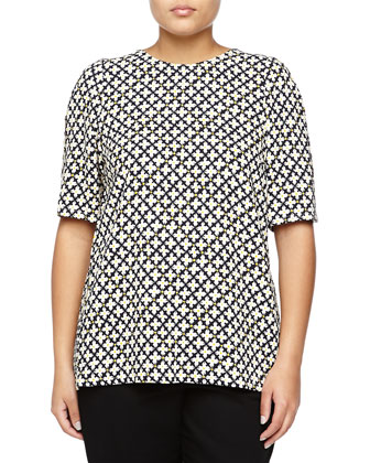 Short-Sleeve Graphic-Print Top