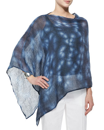 Shadowy Linen Poncho, Organic Cotton Slim Tank & Linen-Blend Straight-Leg ...