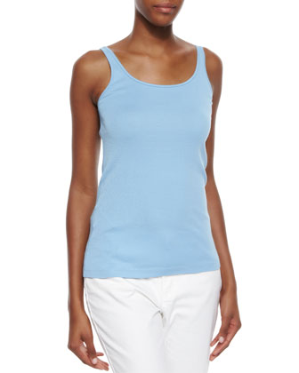 Chunky Knit Top W/ Back Vent, Organic Cotton Slim Tank & Linen ...