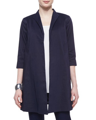Polished Ramie Long Jacket