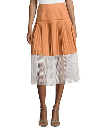 Piqu??t Grafton Skirt with Tulle Extension