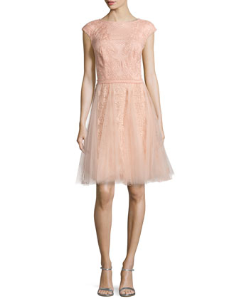 Lace & Tulle Dress, Pink Shadow
