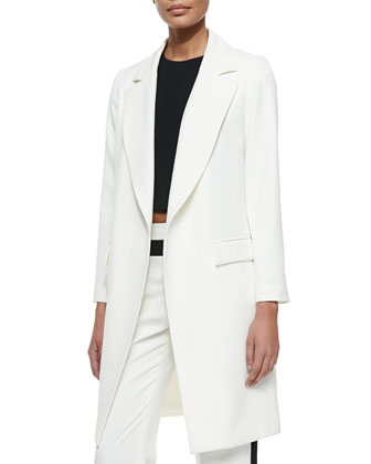 Italian Cady Stretch Long Topper Jacket