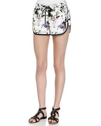 Keyla Printed Drawstring Shorts