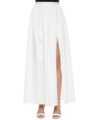 Full-Length Skirt with Shorts
