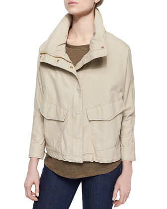 Boxy Washed Canvas Coat