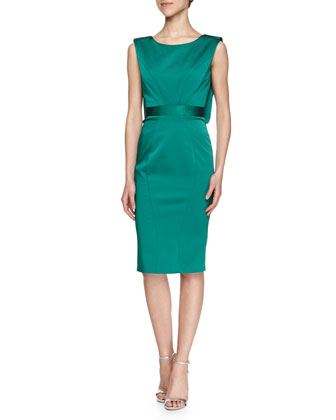 Santina Combo Sheath Dress, Fiji