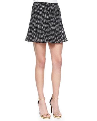 Nezla Dot-Print Flare Skirt