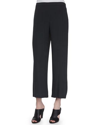 Silk Lantern Ankle Pants, Graphite, Petite