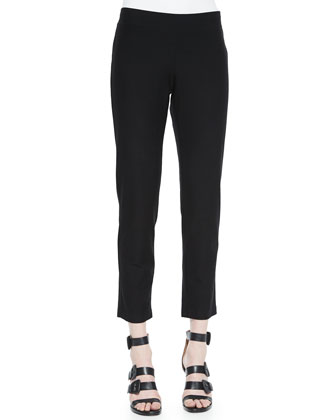 Stretch-Crepe Ankle Pants