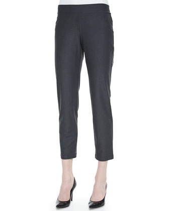 Stretch-Crepe Ankle Pants, Women's