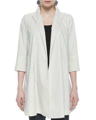 Polished Ramie Long Jacket, Women's