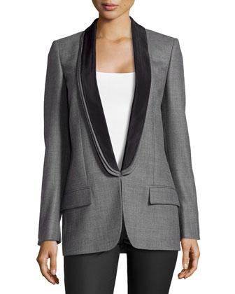 Triple-Lapel Tuxedo Jacket