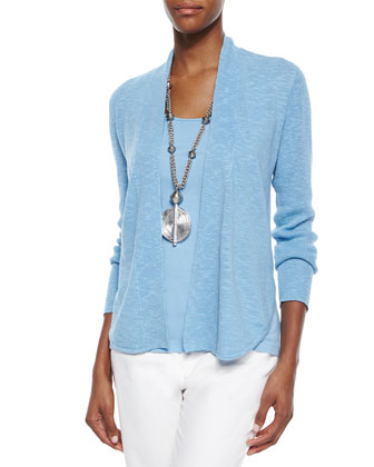 Organic Linen/Cotton Slub Cardigan & Organic Cotton Slim Tank