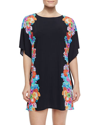 Fantasy Garden Printed/Solid Coverup