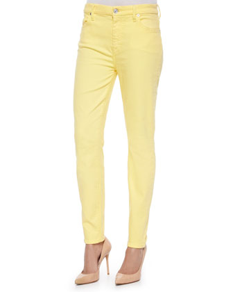 High-Rise Skinny Ankle Jeans, Dandelion
