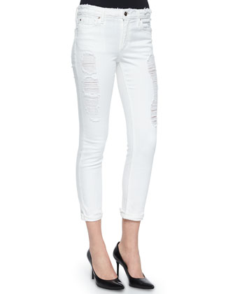 Rolled Skinny Crop Jeans
