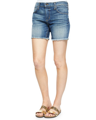 Boyfriend Cutoff Denim Shorts, Mai