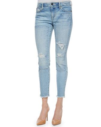 Finn Skinny Repaired Ankle Jeans, Yuki