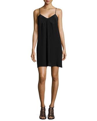 Sleeveless Knit Shift Dress, Black