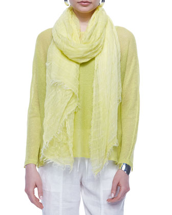Maltinto Modal Stripe Scarf, Honey
