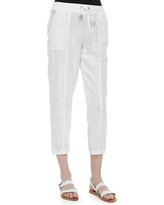 Organic Linen Cropped Pants, Women's