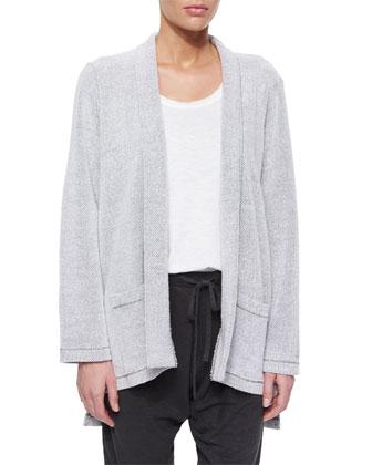 Soft-Spun Kimono Cardigan, Dark Pearl