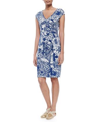 New Matte Jersey Printed Dress