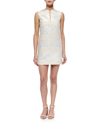 Textured Jacquard Shift Dress