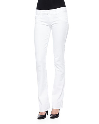 Beth Boot-Cut Jeans, White